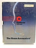 Apple II II+ IIe The Home Accountant - Continental Software SEALED VINTAGE 1982