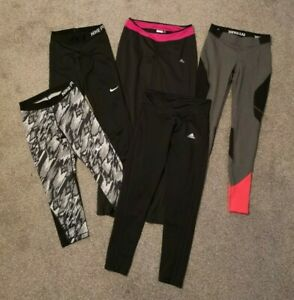 Bundle of 5 Womens Gym Leggings Pants Ivy Park, Adidas, Nike - Size Small