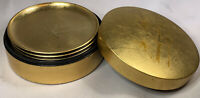Otagiri Lacquered Coasters in Lacquer Box, Bamboo Design Vintage Japan Set Of 6