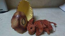 "Dinotopia Egg #10 w/ ""26"" Hatchling Triceratops Alpha-Series 2002 Dinosaur Plush"
