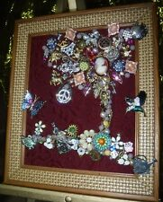 """Jewelry Art Tree of Life,"""" Life = Peace"""", filled with life, & sparkle & color"""