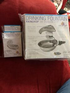 Raindrop Drinking Fountain 60oz/2 Boxes filters