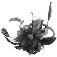 FLOWER FASCINATOR HEADBAND ALICEBAND HATINATOR FLOWER WEDDING RACING PROM PARTY