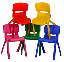 5x Children Strong Stackable Kids Plastic Chair Picnic Party Garden Nursery  Club