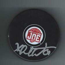 Xavier Ouellet Signed Detroit Red Wings Joe Louis Arena JLA Final Season Puck