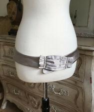 Authentic Nina Ricci silk belt hip hugger silver