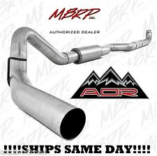 """MBRP 4"""" Down Pipe Back Single Side, Off Road Fits 01-07 GMC/Chevy Duramax Truck"""