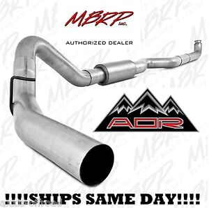 "MBRP 4"" Exhaust For 2001-2010 Duramax 6.6L LB7 LLY LBZ LMM 08-10 Race S6004P"