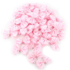 50PCS DIY Satin Ribbon Organza Lace Bow Appliques/Craft/Wedding Decoration