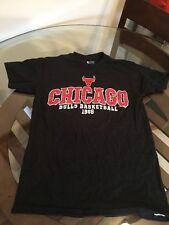 Chicago Bulls Black NBA T-Shirt Small Good Condition