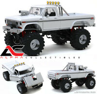 """PREORDER GREENLIGHT 13556 1:18 1979 FORD F-250 WHITE 48"""" TIRES MONSTER TRUCK"""