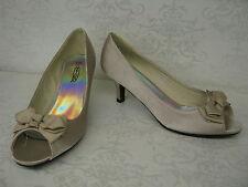 Stiletto Satin Peep Toe Spot On for Women