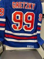 Wayne Gretzky New York Rangers Autographed CCM Vintage Hockey Jersey WGA COA