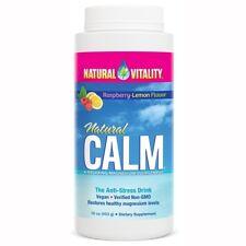Natural Vitality Magnesium Drink Organic Raspberry Lemon Flavor 16oz