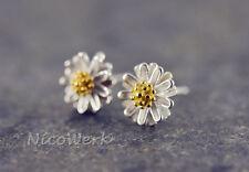 Silber Ohrstecker Blumen Damen Ohrschmuck 925 Ohrringe Stecker Geschenk