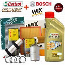 Kit tagliando olio motore CASTROL EDGE 5W30 5LT + 4 FILTRI AUDI A4 1.9 TDI