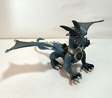 "Mega Bloks Dragon, 11"" Dragon, Blue Dragon with Silver Accents"