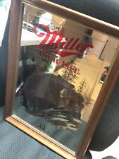 """Miller High Life Mirror """"The Black Bear"""" 4th in Wildlife Series for Man Cave VTG"""