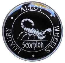 Scorpion wheel cap 3D STICKERS (rubber) High Quality 4X 55mm . FREE SHIPPING
