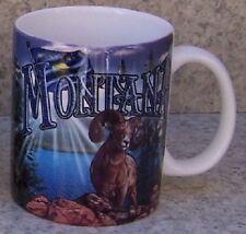 Coffee Mug Explore America Montana Wildlife Montage NEW 11 ounce cup w/ gift box