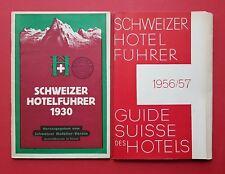 2 x alte Broschüren 1930/1956/57 SCHWEIZER HOTEL FÜHRER    ( F16780