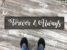 Forever & always wood sign, hand painted sign, wedding gift sign, rustic wedding