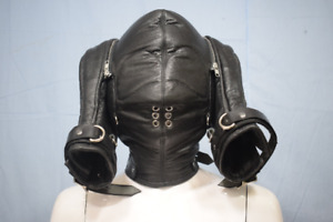 Executioner's Hood Leather Suffocating Mask Masquerade Cosplay Carnival Leder