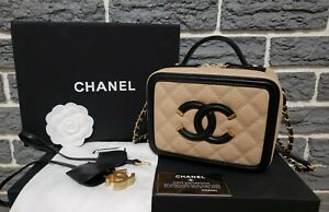 Chanel Small Filigree Caviar Quilted Vanity Case