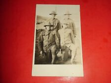 ZS449 Vintage WWI RPPC Men Uniforms All Smoking Cigarettes Cigs Will Get You