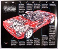 "1999 Chevy Corvette C5 Cutaway Poster 22 X 18"", Original GM"