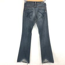 JAMES CURED BY SEUN Long Bootcut stretch Destroyed Womens Jeans 25 USA