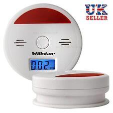 LCD CO Carbon Monoxide Detector Poisoning Gas Warning Alarm Sensor Monitor UK