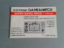NINTENDO GAME&WATCH SUPER MARIO BROS. YM-105 ENGLISH INSTRUCTION MANUAL MINT