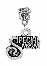 Special Mom Mother Gift Daughter Word Dangle Charm for European Bead Bracelets