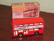 Matchbox Superfast 17 Londoner Bus London Bus LAKER Skytrain Textured Base
