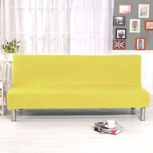Futon Slipcover Armless Sofa Cover Stretch Full Folding Bed Protector Elastic