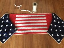 """Patriotic Table Runner with Pieced Red And White Stripes, W-17"""" x 73"""""""