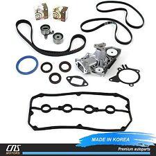 Timing Belt Kit V-Belt Tensioner Water Pump Valve Cover Gasket For 01-03 Kia Rio