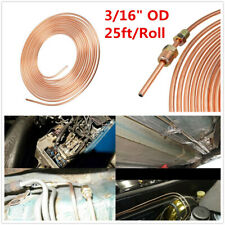 Copper Nickel Car SUV Brake Fuel Line Tubing Kit 3/16 OD 25ft Rolls W/Fittings