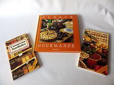 Lot de 3 livres sur les conserves les confitures et recettes d' ALSACE