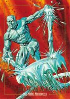 ICEMAN / 1992 Marvel Masterpieces BASE Trading Card #40 Art by JOE JUSKO