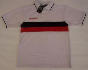 KOOGA WHITE POLO SHIRT, BLACK AND RED DETAIL - MEN'S S