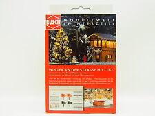 "LOT 12718 | Busch HO 1167 ""Winter an der Strasse"" Winterzeit Bausatz NEU in OVP"