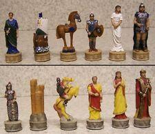 Chess Set Pieces Ancient Battle of Troy vs Sparta vs Mycenae NEW