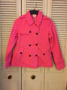 Lands' End Bright Fuchsia KIDS  Jacket Size XL (16) NEW