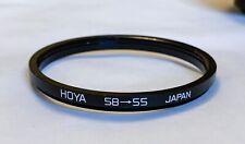 Hoya 58mm - 55mm Step Down Ring