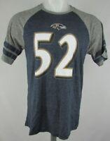Baltimore Ravens NFL Men's Striped Sleeve Shirt #52 Blank Navy Blue Gray M