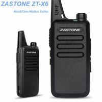 Zastone ZT-X6 UHF 400-470MHz 16 Channels Walkie Talkie Mini Thin Portable Radio
