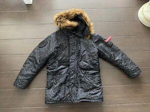 Alpha Industries x K1X Polar Jacke *Limited Edition* Schwarz/Weiß in L