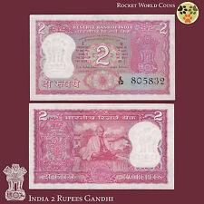 India Paper Money 2 Rupees P-67b Gandhi Commemorative 1970 AU/UNC